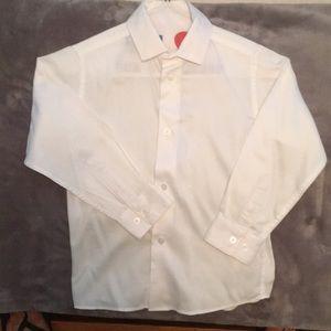 Boys white Calvin Klein Button Down Shirt